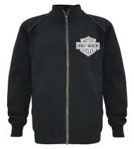 Harley-Davidson® Men's Track Jacket Bar & Shield Black Zip Warm Up 30296616