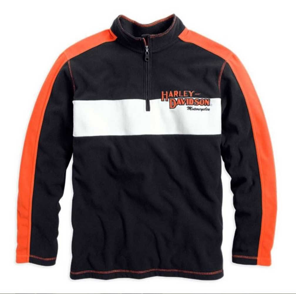 harley davidson men 39 s 1 4 zip prestige fleece pullover. Black Bedroom Furniture Sets. Home Design Ideas