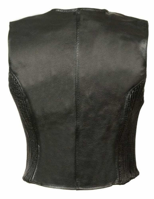 Leather King Women's Zipper Front vest w/ Side Stretch SH1288 - A