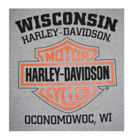 Harley-Davidson® Men's Bar & Shield T-Shirt Short Sleeve Tee, Gray 30296622