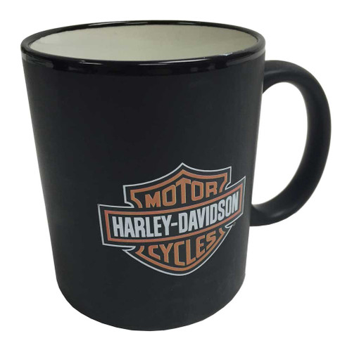 Harley-Davidson® Bar & Shield Logo Coffee Mug, Matte Black Mug HD-BSS-2207