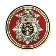 Harley-Davidson® Firefighter First In Last Out Challenge Coin 1.75'' 8002923 - A