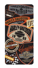Harley-Davidson® iPhone 5/5s Shell Printed TPU Logo's Orange & Black 07608