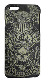 Harley-Davidson® Men's iPhone 6 Shell, Tattoo Skull Print Graphic TPU Case 07722