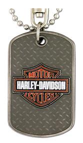 Harley-Davidson® Dog Tag, Willie G. Skull / Bar & Shield Logo, Silver 8002732 - A