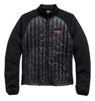 Harley-Davidson® Mens Gear Wheel Packable Down Mid-Layer Jacket Black. 98554-15VM