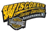 Harley-Davidson® Cheese Pin Yellow & White W CHEESE