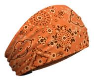 That's A Wrap Unisex Bandana Orange Paisley Knotty Band, Orange KB1216 - A