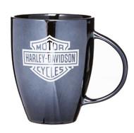 Harley-Davidson® Ceramic Coffee Mug, Bar & Shield Bistro 18 oz Black 3BLM4900