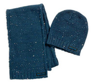 Harley-Davidson® Women's Scattered Sequin Hat/Scarf Set Insignia Blue. 97821-16VW