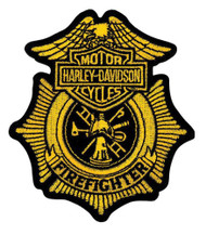 Harley-Davidson® Firefighter Gold Patch, Small 3-1/2'' W x 4'' H EM1265172
