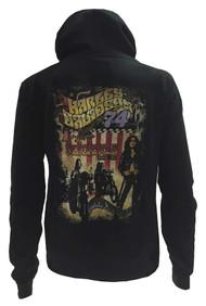 Harley-Davidson® Women's Juniors Hooded Sweatshirt, Rock N' Roll Poster, Black - A