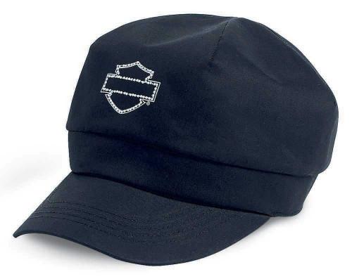 harley davidson 174 s spirted biker cap flat top hat