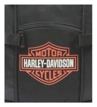 Harley-Davidson® Bar & Shield Day Back Pack, Orange Logo, Black BP1968S-ORGBLK