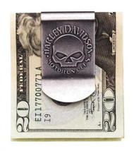 Harley-Davidson® Men's Skull Money Clip, Metal Nickel Finish 99453-06V