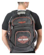 Harley-Davidson® Mens Deluxe Backpack BP1900S-ORGBLK