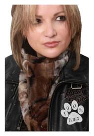 That's A Wrap Women's Chinchilla Faux Fur Neck Gaiter, High Performance FFG1318
