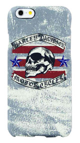 Harley-Davidson® Men's iPhone 6 Phone Shell, Distressed Americana Skull, 8302