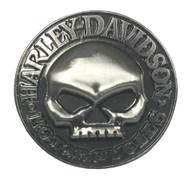 Harley-Davidson® Men's Willie G Skull Hubcap Pin, Antique Nickel Finish P1029202