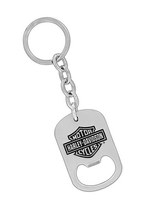 Harley-Davidson® Bar & Shield Bottle Opener Key Chain, Silver HDKB014