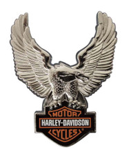 Harley-Davidson® Silver Upwing Eagle Bar & Shield Pin P328064