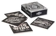 Harley-Davidson® Street Machine Coaster Set, 4 Pack Ceramic Set, HDL-18553