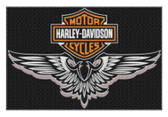 Harley-Davidson® Wingspan Bar & Shield Tufted Rug, 20 x 30 Inch, Black NW047167