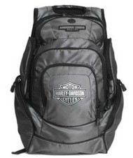Harley-Davidson® Mens Chrome Bar & Shield Deluxe Backpack BP1999S-CHROME