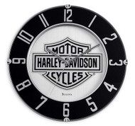 Harley-Davidson® Mirrored Bar & Shield Logo Clock 14'', Bar Gameroom. 99365-10V