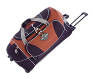 Harley-Davidson® Hybrid Luggage 29'' Travel Equipment Duffel, Rust/Black 99629-RB - C