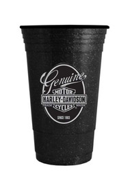 Harley-Davidson® Heavyweight Hard Plastic Cup, Bar & Shield Glitter Flake 16 oz.