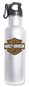 Harley-Davidson® Water Bottle, Bar & Shield Aluminum Bottle, White HD-BSS-1752