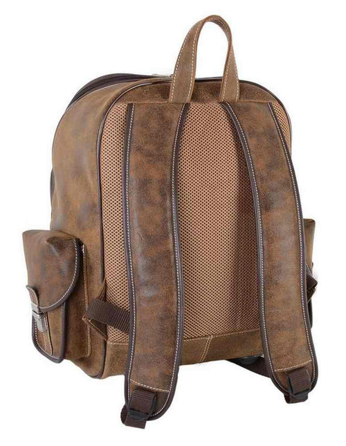 Harley-Davidson® Bar & Shield Genuine Leather Large Backpack, Brown 99678 - C