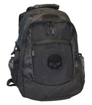 Harley-Davidson® Men's Willie G. Skull Classic Backpack - Black BP1962S-Black - A
