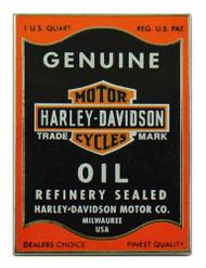 Harley-Davidson® Genuine Motor Oil Logo Pin, Orange & Black, 1.5 x 1 inch 151843