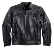 Harley-Davidson® Men's Triple Vent System, Beginnings Leather Jacket 98067-14VM - A