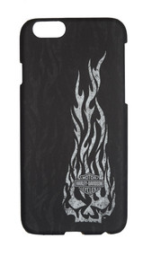 Harley-Davidson® iPhone 6 Shell, Flaming Willie G. Skull Design, Black 06933