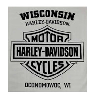 Harley-Davidson® Men's Lightweight Fitted Tee, Distressed Stamped Wolf, Gray