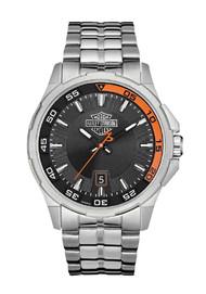 Harley-Davidson® Men's Bulova Watch, Silver Bar & Shield, Stainless Steel 76B170 - A