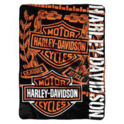 Harley-Davidson Blankets, Throws and Beach Towels