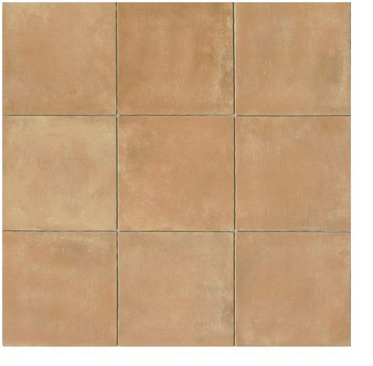 Terra Cotta 14x14 Gloss Finish Cotto Field Tile Cerdena ( Beige )