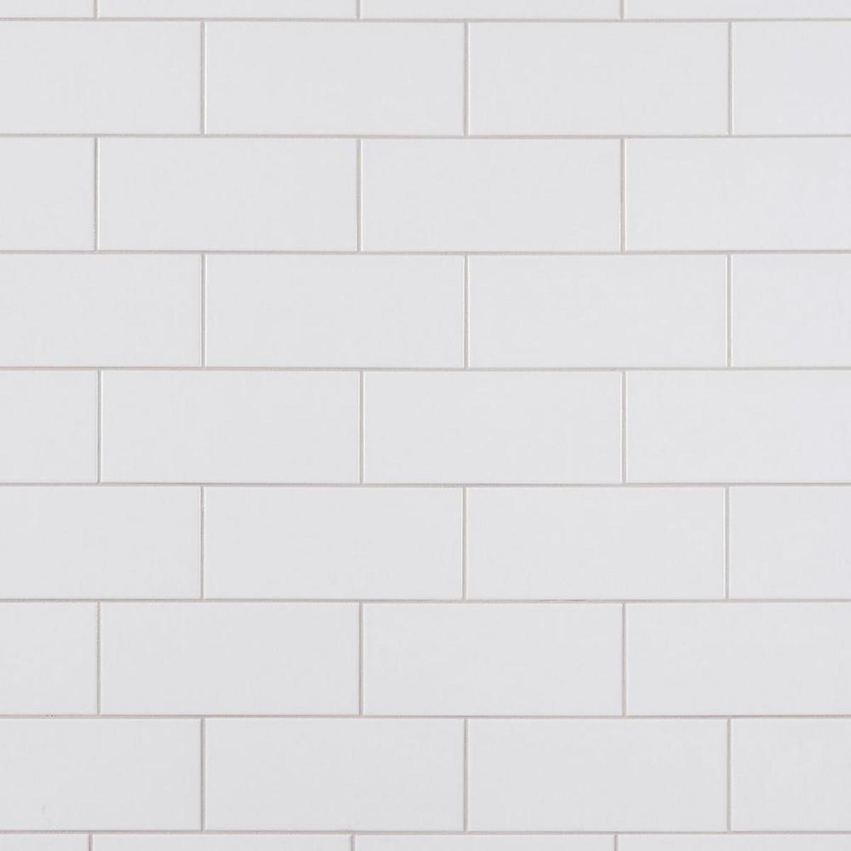 Ice White Matte 4x10 Wall Tile