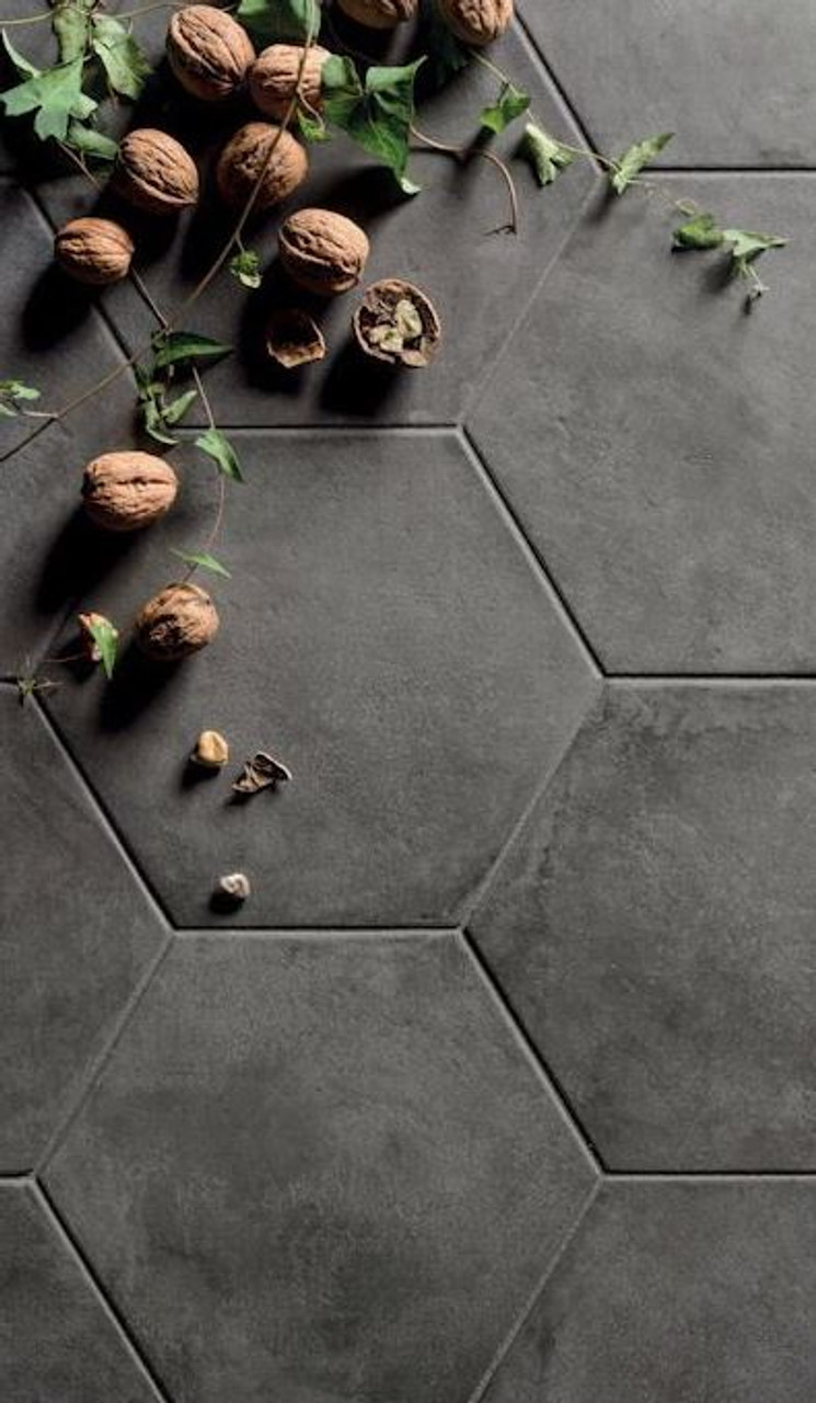 Black Fox Porcelain 8 Quot Hexagon Matte Tile Portland