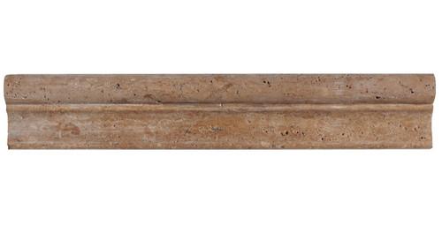 2.04Noce Travertine Cornice Molding 1.75x12