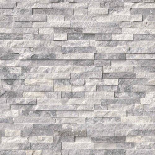 Alaska Gray Splitface Ledgerstone Panels 6x24
