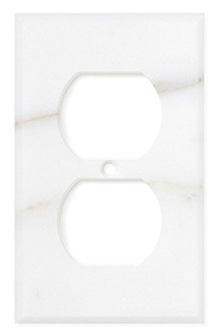 Italian Calacatta Gold Marble Switch Plate Cover, Honed (SINGLE DUPLEX)