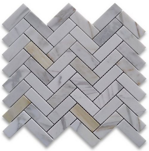 Calacatta Honed 1x3 Herringbone