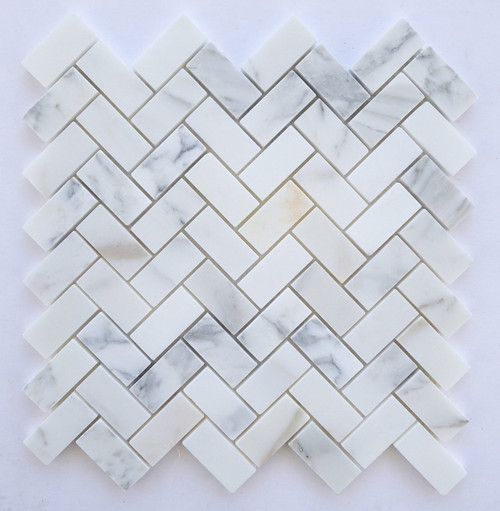 Calacatta Gold Honed or Polished 1x2 Herringbone