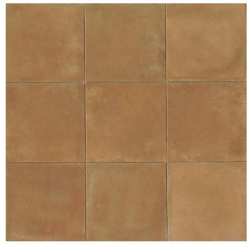 Terra Cotta Porcelain Tile 14x14 Gloss Finish Cotto Field Tile Siena ( Caramel )