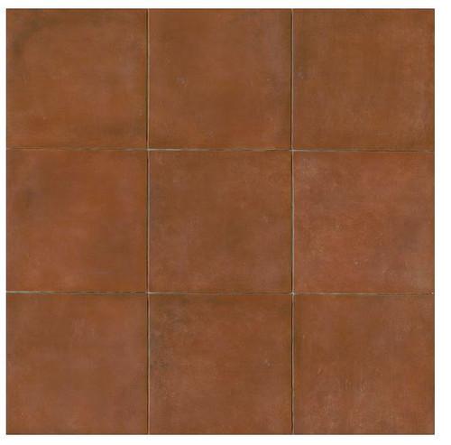 Terra Cotta Porcelain Tile 14x14 Matte Finish Cotto Field Tile Sicilia ( Red )